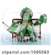 Clipart 3d Hockey Tortoise Goalie Royalty Free CGI Illustration