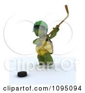 3d Tortoise Hockey Player