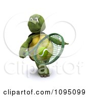 Clipart 3d Tortoise Playing Tennis Royalty Free CGI Illustration