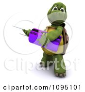 Clipart 3d Tortoise Holding A Capacitor Royalty Free CGI Illustration