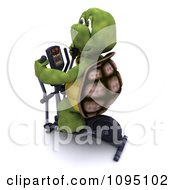 Clipart 3d Tortoise Exercising On A Cross Trainer Royalty Free CGI Illustration
