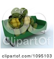 3d Tortoise Couple Cuddling On A Sofa