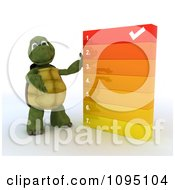 Clipart 3d Tortoise Going Over A Numbered List Royalty Free CGI Illustration