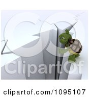 Clipart 3d Tortoise Balancing On A Cliff Royalty Free CGI Illustration