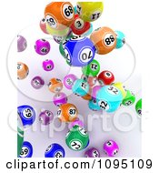 Clipart 3d Colorful Bingo Balls Falling 1 Royalty Free CGI Illustration by KJ Pargeter