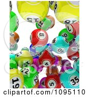 Clipart 3d Colorful Bingo Balls Falling 2 Royalty Free CGI Illustration by KJ Pargeter