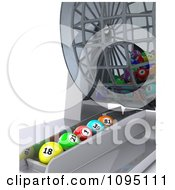 Clipart 3d Balls Lined Up Under A Bingo Dispenser Royalty Free CGI Illustration by KJ Pargeter
