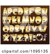Clipart Sparkly Golden Capital Letters Royalty Free Vector Illustration