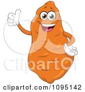 Clipart Happy Sweet Potato Holding A Thumb Up Royalty Free Vector Illustration by yayayoyo