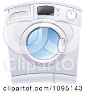 Clipart Front Loader Laundry Washing Machine Royalty Free Vector Illustration