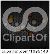 Clipart Molecules Over Perforated Metal Royalty Free CGI Illustration by elaineitalia