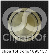 Clipart 3d Gold Metal Brass Badge On Perforated Metal Royalty Free CGI Illustration by elaineitalia