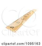 Clipart 3d Shallow Depth Of Field View On A Success Wooden Ruler Royalty Free CGI Illustration