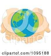 Globe Held Gently In Human Hands