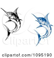 Blue And Black And White Marlin Fish