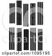 Clipart Tire Tread Marks 6 Royalty Free Vector Illustration by Vector Tradition SM