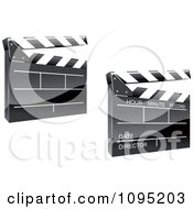 Clipart 3d Shiny Clapper Boards Royalty Free Vector Illustration