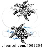 Clipart Sea Turtles And Water Royalty Free Vector Illustration by Vector Tradition SM
