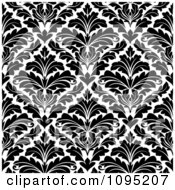 Clipart Black And White Triangular Damask Pattern Seamless Background 15 Royalty Free Vector Illustration