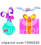 Clipart Gift Bag Box And Ribbon Royalty Free Vector Illustration by bpearth