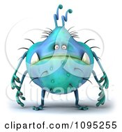 Clipart 3d Chubby Blue Monster Royalty Free CGI Illustration by Julos