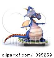 3d Purple Dragon Skateboarding 1