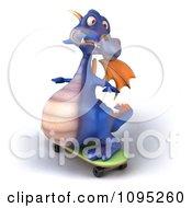 3d Purple Dragon Skateboarding 2