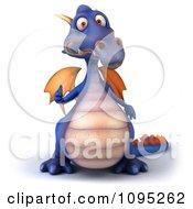 3d Purple Dragon Holding A Thumb Up 2