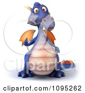 Clipart 3d Purple Dragon Holding A Thumb Up 2 Royalty Free CGI Illustration by Julos