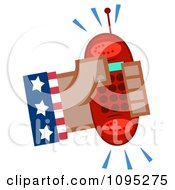 Clipart Black American Hand Holding A Ringing Red Cell Phone Royalty Free Vector Illustration by Hit Toon