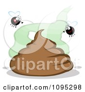 Clipart Flies Over A Pile Of Poop Royalty Free Vector Illustration by Hit Toon
