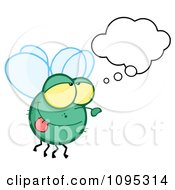 Clipart Fly Daydreaming Royalty Free Vector Illustration by Hit Toon