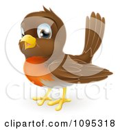 Clipart Cute Robin Bird Royalty Free Vector Illustration by AtStockIllustration