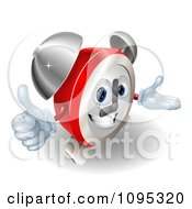 Clipart 3d Alarm Clock Character Holding A Thumb Up Royalty Free Vector Illustration