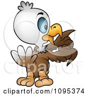Clipart Bald Eagle Counting His Feathers Royalty Free Vector Illustration by dero