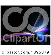 Clipart Colorful Fractal Lights Shining On Black Royalty Free Illustration
