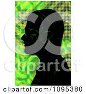 Male Silhouette With Green Digital Electronic Circuitry
