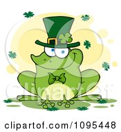 St Patricks Day Frog Smiling And Wearing A Shamrock Hat