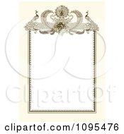 Vintage Biege And White Ornamental Peacock Wedding Invitation Frame