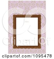 Clipart Ornate Frame With Swirls And White Copyspace Over Pink Floral Royalty Free Vector Illustration