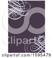 Clipart Purple Swirl Wedding Invitation Design With Copyspace Royalty Free Vector Illustration