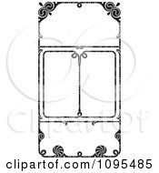 Clipart Black And White Vintage Ornate Wedding Invitation Frames Royalty Free Vector Illustration by BestVector