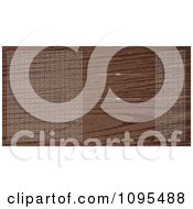 Clipart Wood Grain Wedding Invitation With Ornate Circles Bordering Copyspace With Rules Royalty Free Vector Illustration