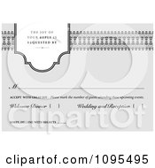 Clipart Gray RSVP Invitation With Copyspace Royalty Free Vector Illustration