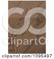 Clipart Wood Grain Wedding Invitation With Ornate Circles Along The Top Royalty Free Vector Illustration