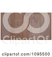 Clipart Faded Wood Grain Wedding Invitation With Ornate Circles Bordering Copyspace With Rules Royalty Free Vector Illustration