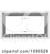 Clipart Ornate Long Frame With Copyspace On Gray Damask Royalty Free Vector Illustration