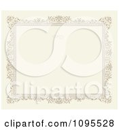 Clipart Ornate Floral Frame With A Swirl And Copyspace On Beige Royalty Free Vector Illustration