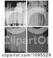 Clipart Black And Gray Grunge Backgrounds Royalty Free Vector Illustration