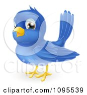 Clipart Happy Bluebird Royalty Free Vector Illustration by AtStockIllustration
